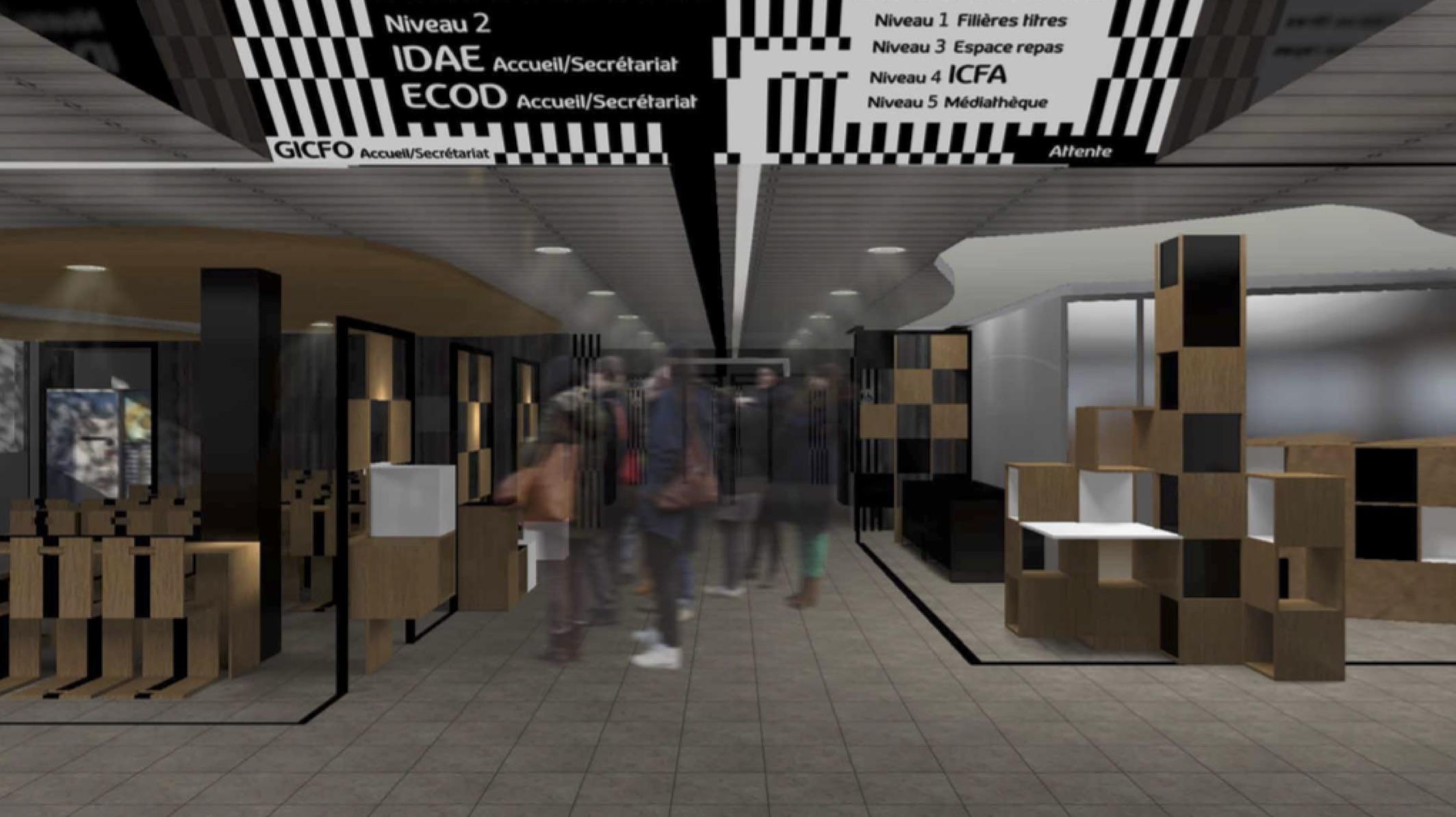 Réhabilitation du Hall d'accueil de l'ICFA – Centre de formation Bordeaux-Lac